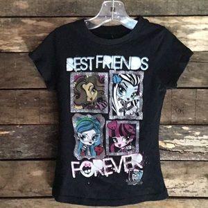 💛4/$10 Girls' Monster High Tee Shirt XS 4-5